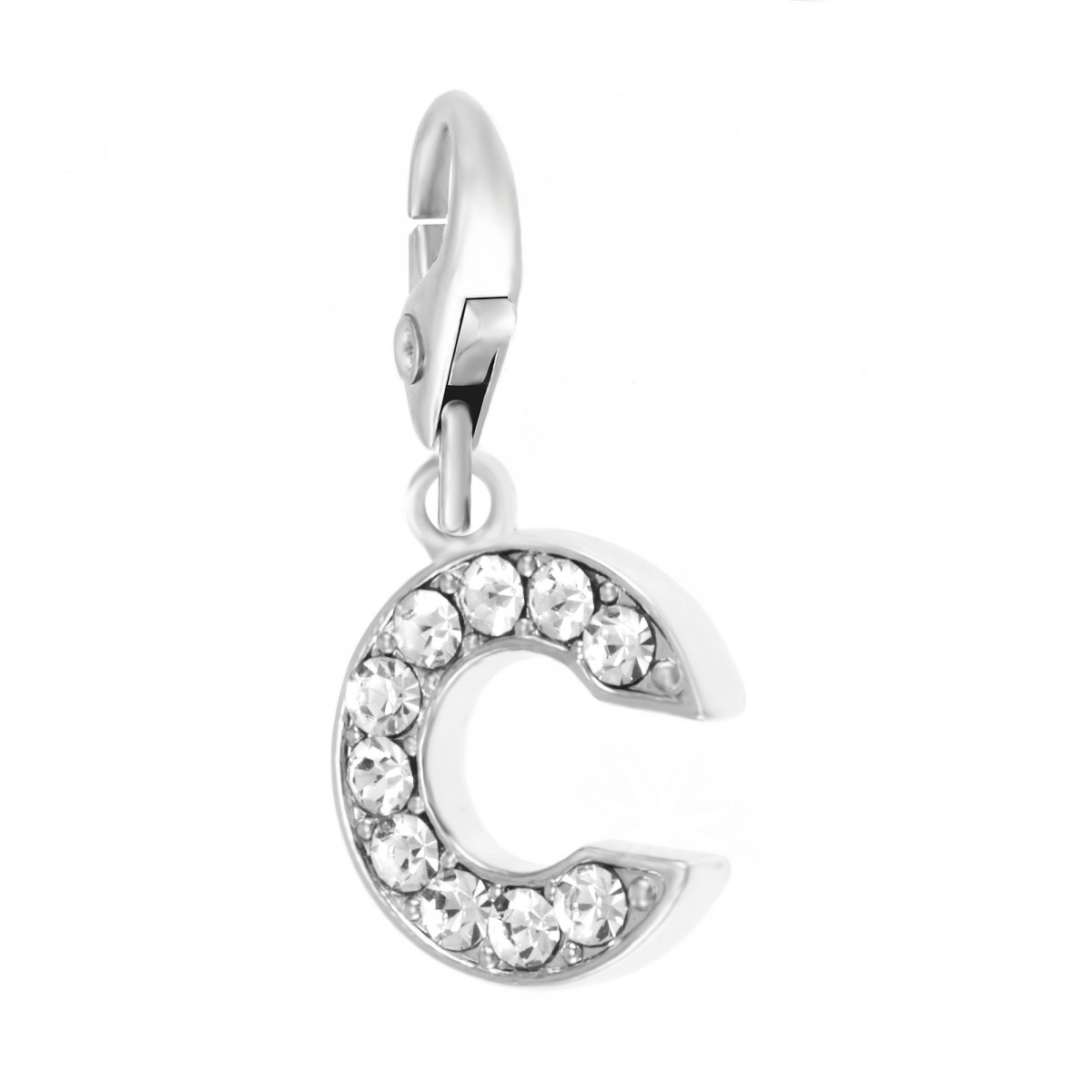 Charm Lettre C So Charm made with Crystal from Swarovski