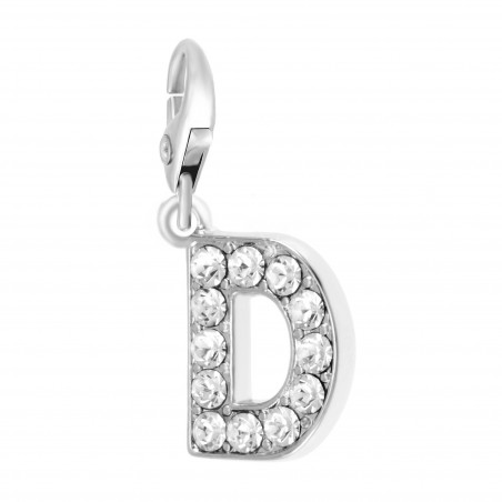 Charm Lettre D So Charm made with Crystal from Swarovski
