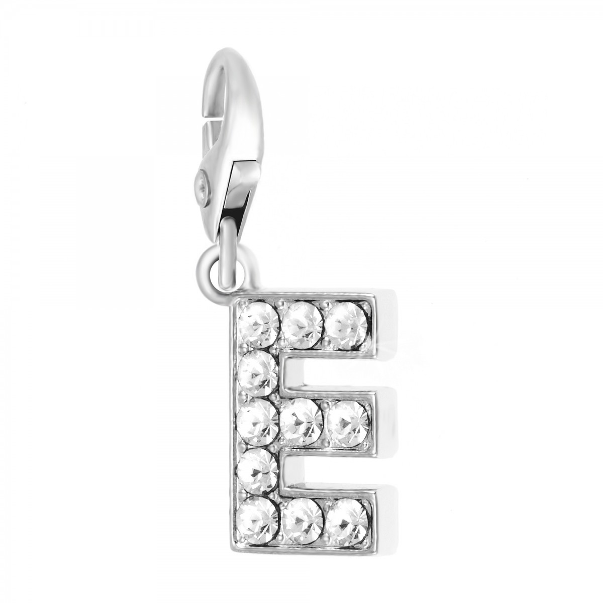 Charm Lettre E So Charm made with Crystal from Swarovski