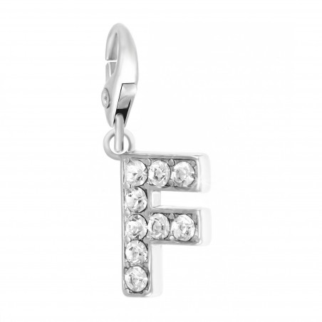 Charm Lettre F So Charm made with Crystal from Swarovski