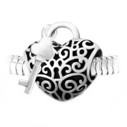 Steel heart lock bead BR01...