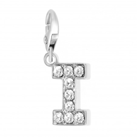 Charm Lettre I So Charm made with Crystal from Swarovski