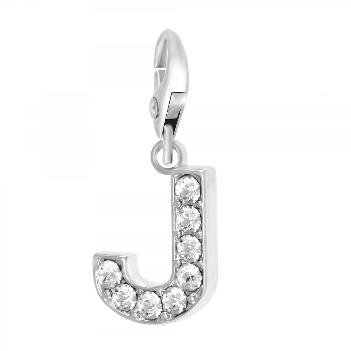 Charm Lettre J So Charm made with Crystal from Swarovski