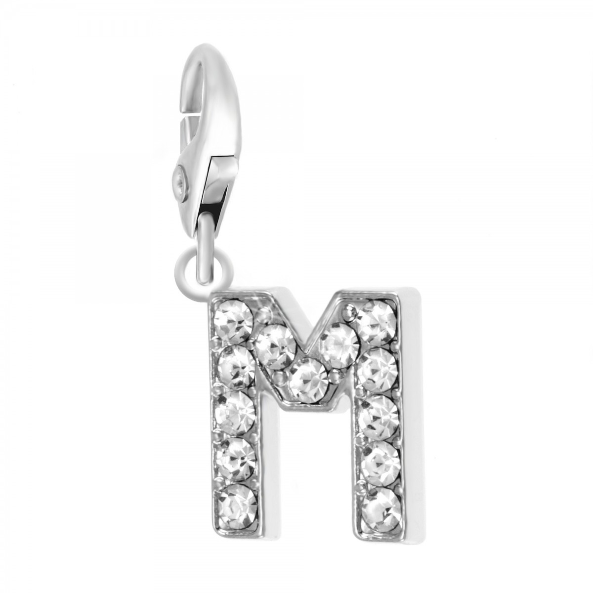 Charm Lettre M So Charm made with Crystal from Swarovski