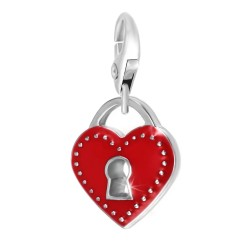 Padlock BR01 in red heart BR01