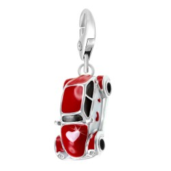 Charm voiture rouge blanc BR01