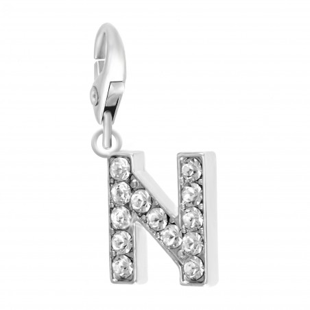 Charm Lettre N So Charm made with Crystal from Swarovski