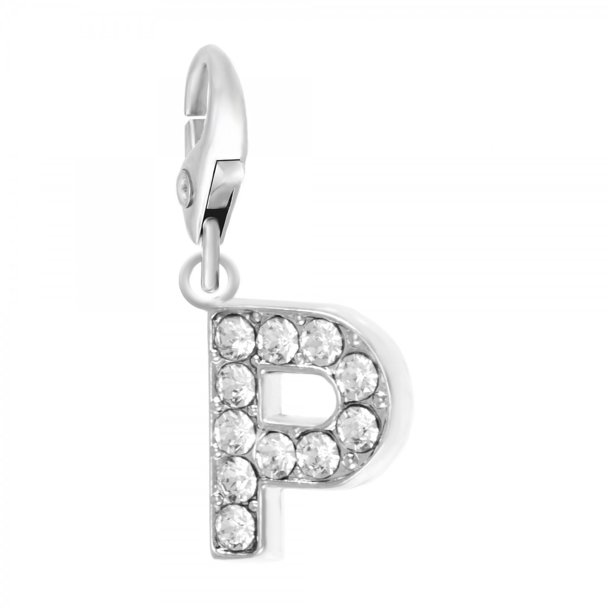 Charm Lettre P So Charm made with Crystal from Swarovski