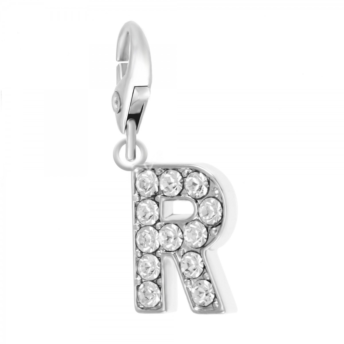 Charm Lettre R So Charm made with Crystal from Swarovski