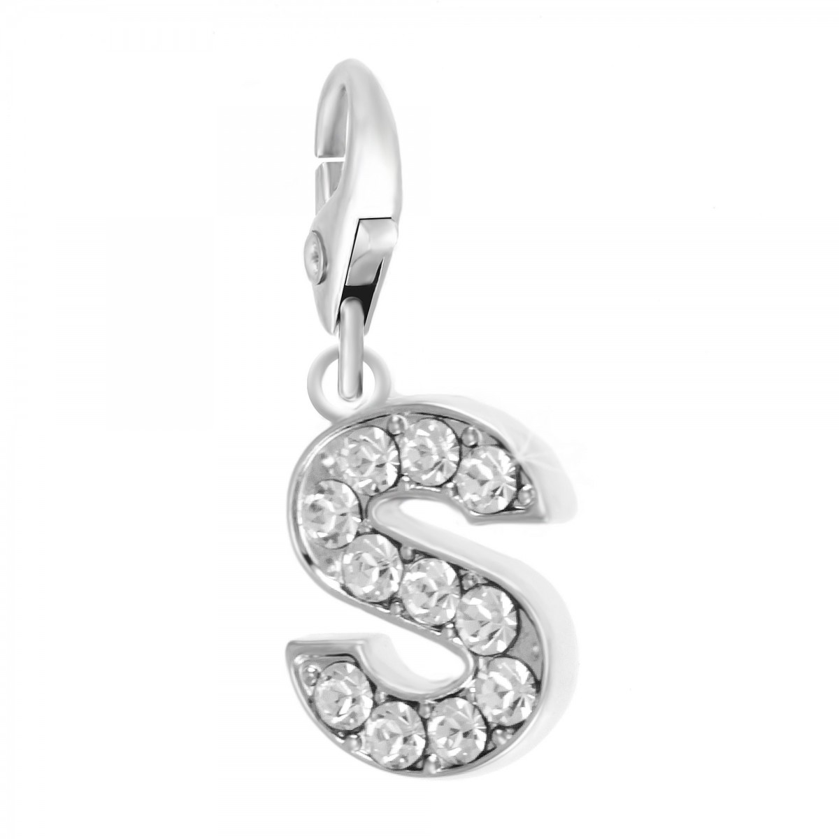 Charm Lettre S So Charm made with Crystal from Swarovski