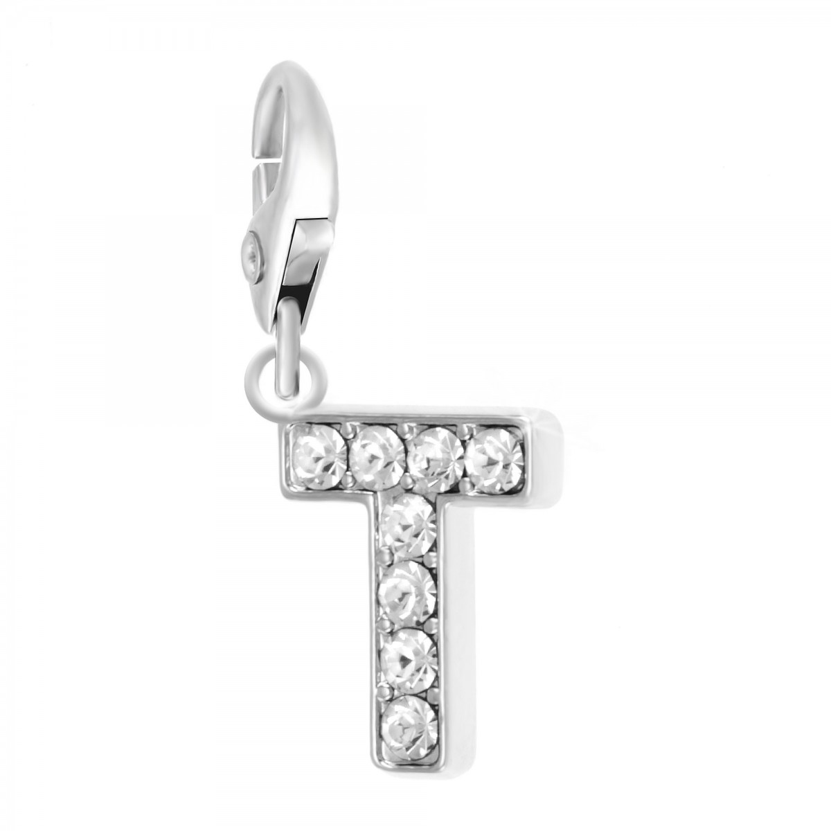 Charm Lettre T So Charm made with Crystal from Swarovski