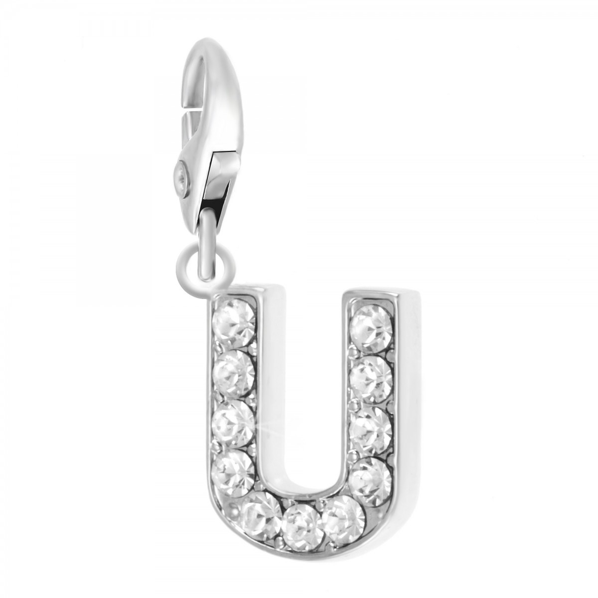 Charm Lettre U So Charm made with Crystal from Swarovski