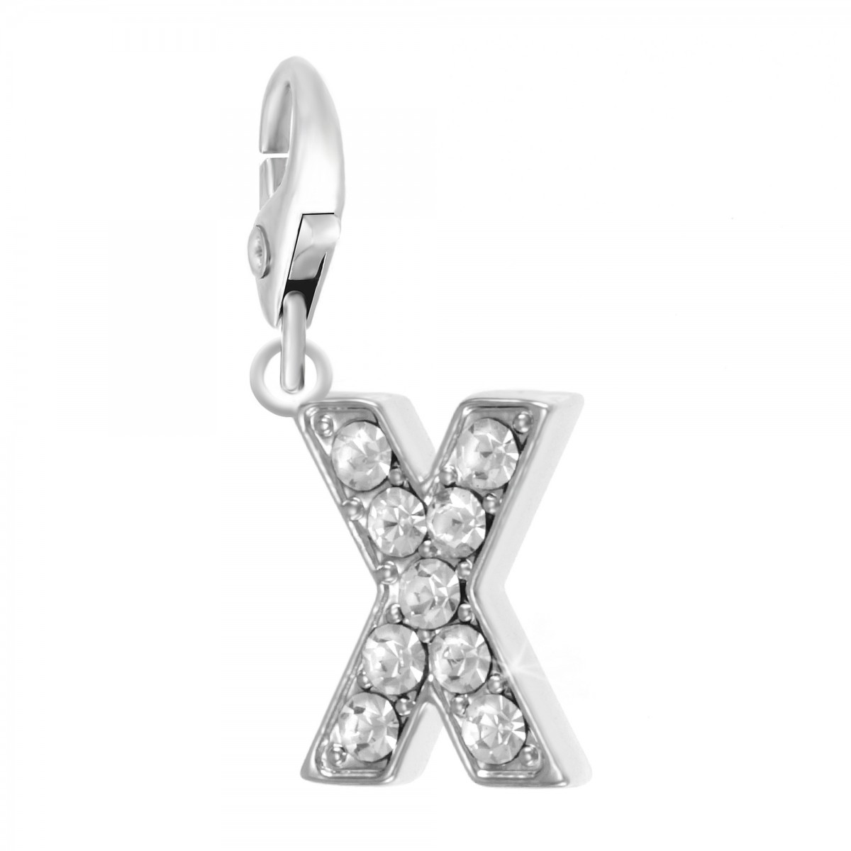 Charm Lettre X So Charm made with Crystal from Swarovski