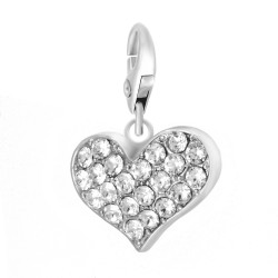 BR01 Heart Charm decorated...