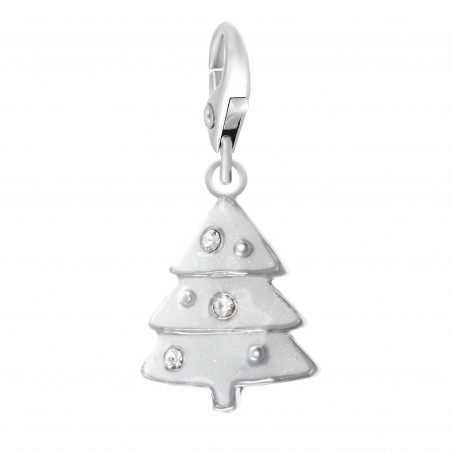 Charm Sapin Blanc So Charm made with crystal from Swarovski