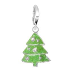 BR01 Green Fir Tree Charm...