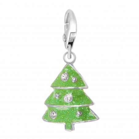 Charm Sapin Vert So Charm made with crystal from Swarovski