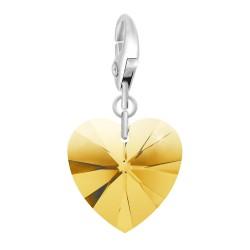 Charm coeur golden orné de...