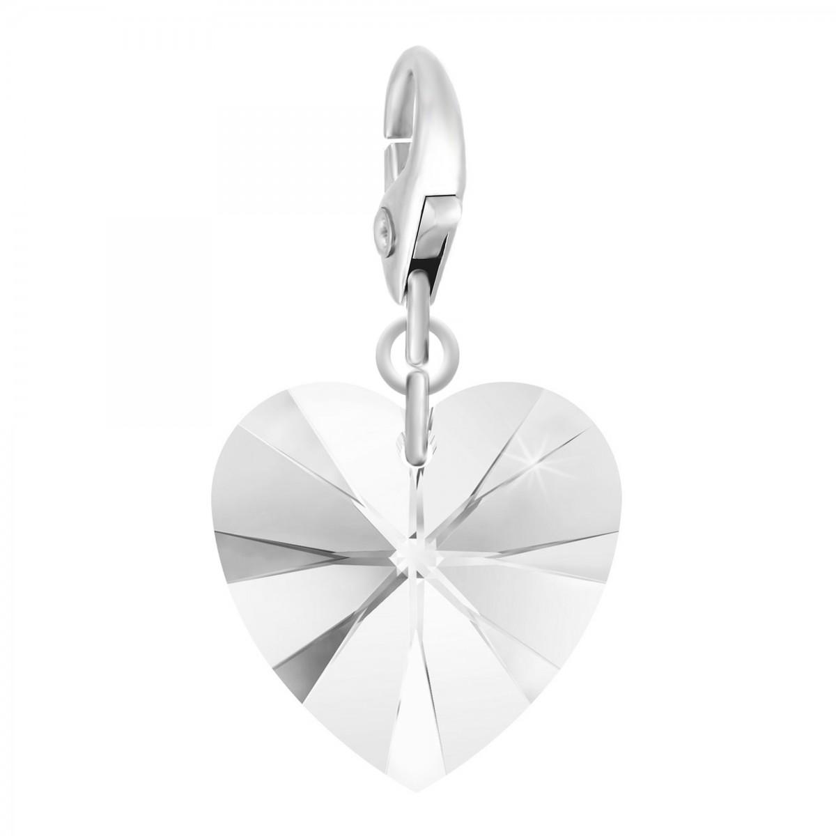 Charm coeur made with Crystal from Swarovski par So Charm
