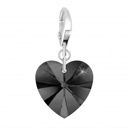 Charm coeur noir made with Crystal from Swarovski par So Charm