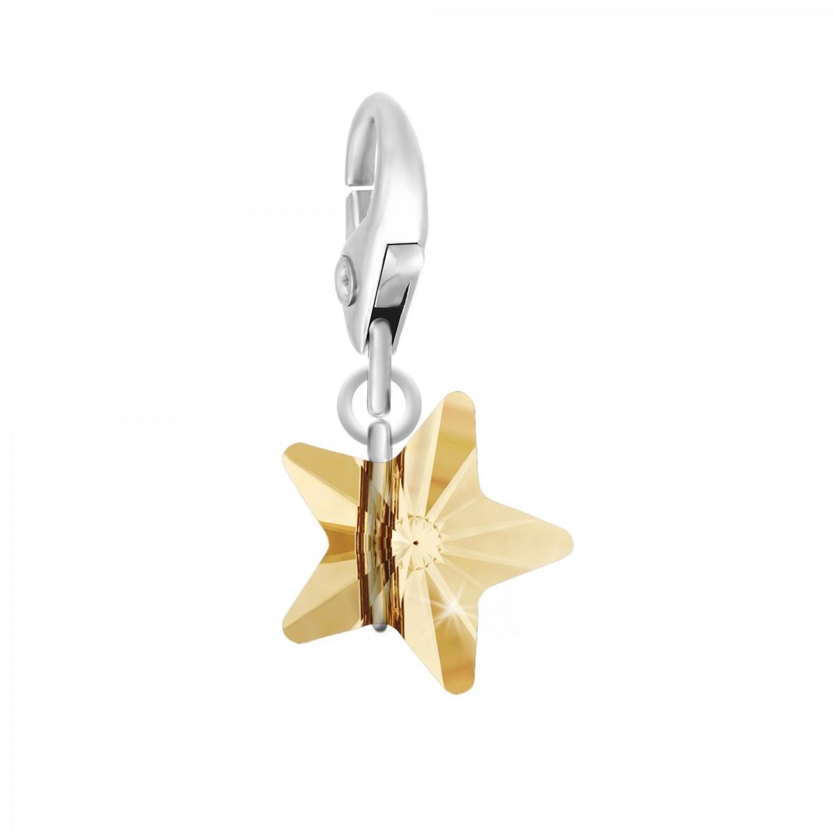 Charm étoile orné d'un cristal jaune SWAROVSKI® ELEMENTS par So Charm