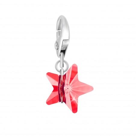Charm étoile orné d'un cristal rouge SWAROVSKI® ELEMENTS par So Charm