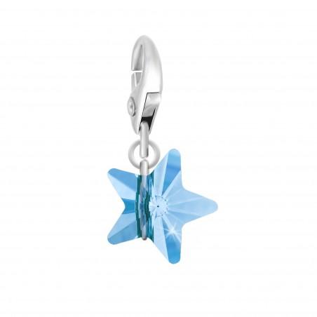 Charm étoile orné d'un cristal bleu SWAROVSKI® ELEMENTS par So Charm