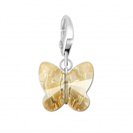 Charm papillon orné d'un cristal golden shadow SWAROVSKI® ELEMENTS par So Charm