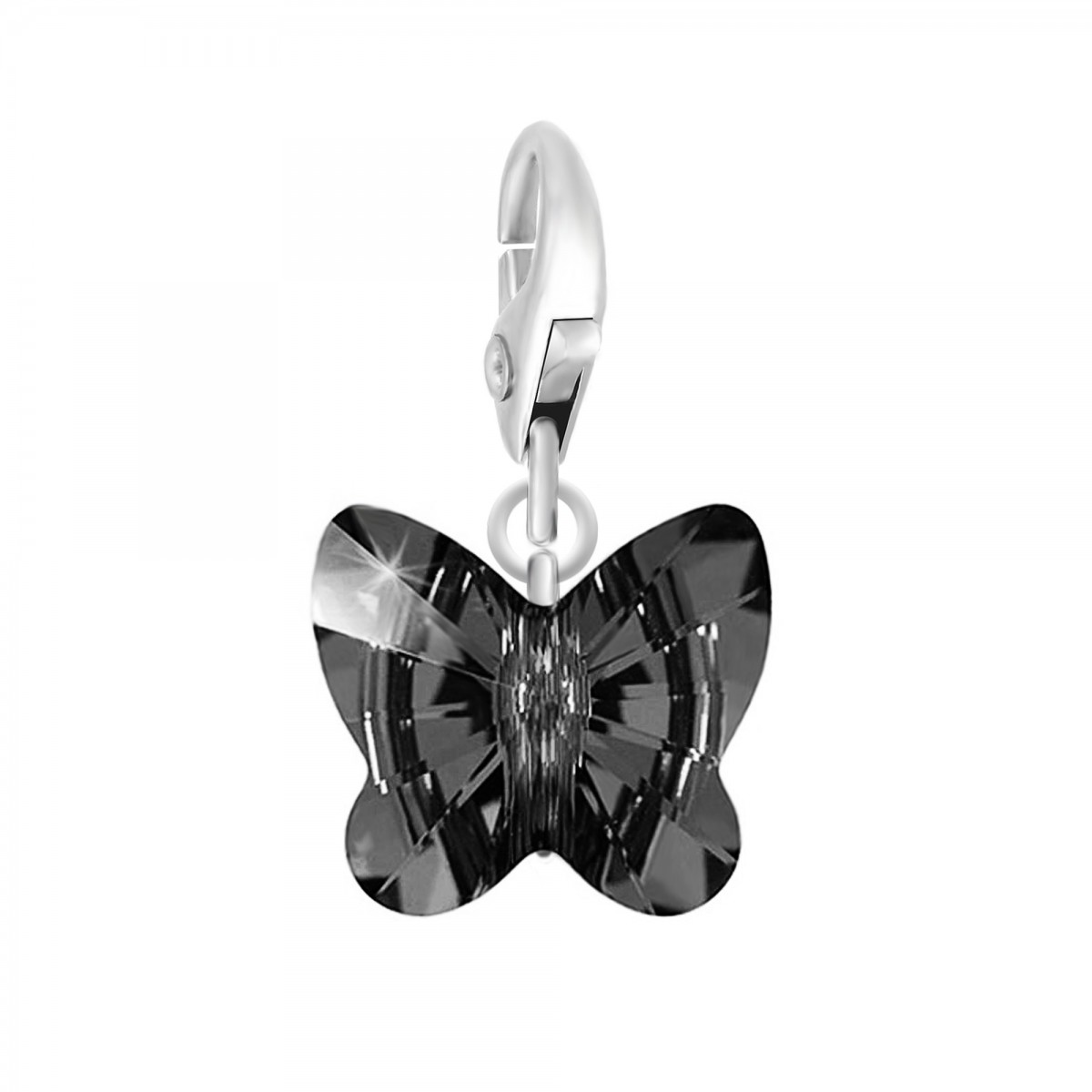 Charm papillon made with Crystal from Swarovski noir par So Charm