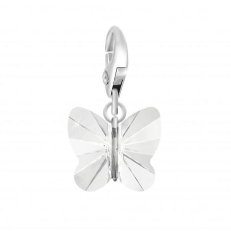 Charm papillon orné d'un cristal blanc SWAROVSKI® ELEMENTS par So Charm