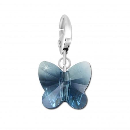 Charm papillon orné d'un cristal denim blue SWAROVSKI® ELEMENTS par So Charm