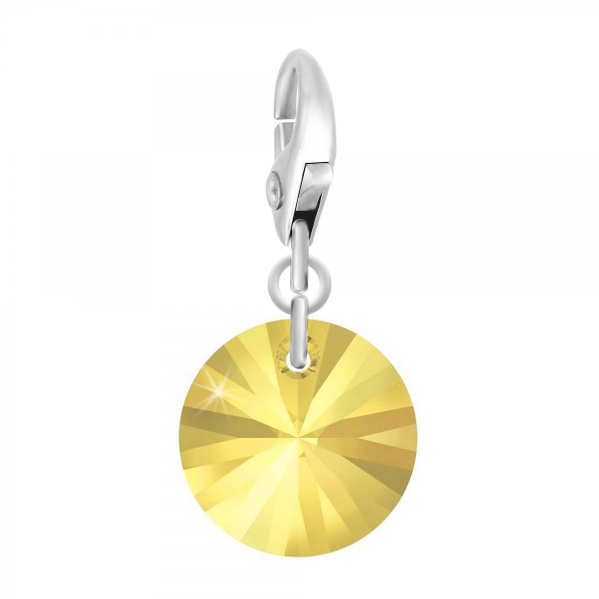 Charm rond jaune So Charm made with Crystal from Swarovski