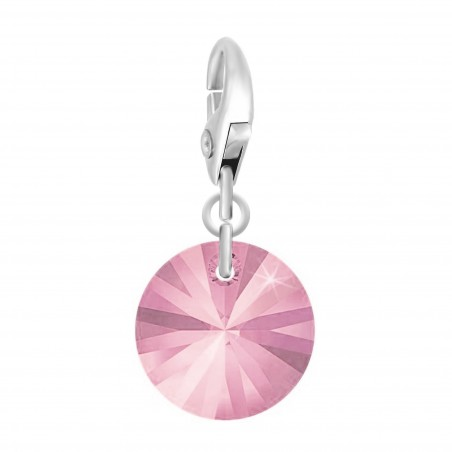 Charm made with Crystal from Swarovski rose par So Charm