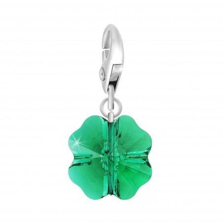 Charm trèfle made with Crystal from Swarovski vert par So Charm