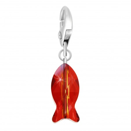 Charm poisson orné d'un cristal rouge SWAROVSKI® ELEMENTS par So Charm