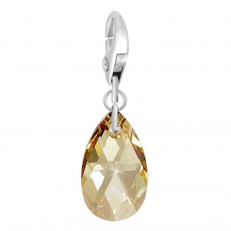 Charm goutte orné d'un cristal golden shadow SWAROVSKI® ELEMENTS par So Charm