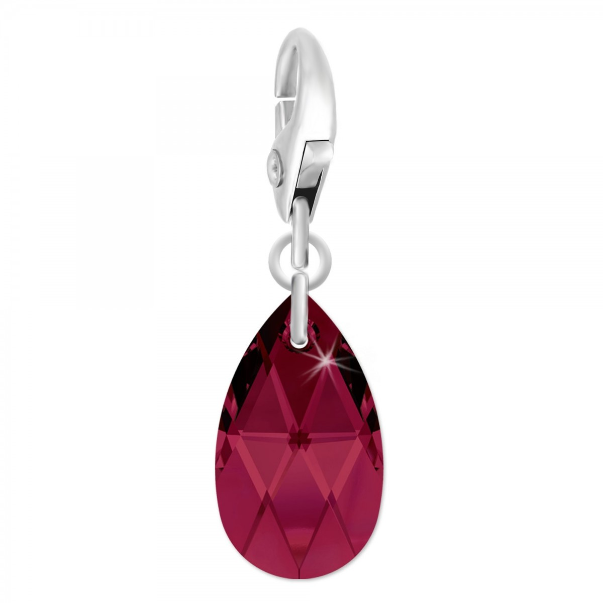 Charm goutte orné d'un cristal ruby SWAROVSKI® ELEMENTS par So Charm