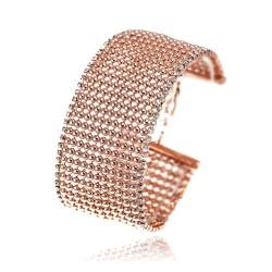 Bracelet manchette doré rose