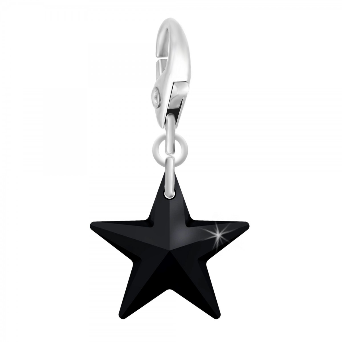 Charm étoile noire So Charm made with Crystal from Swarovski