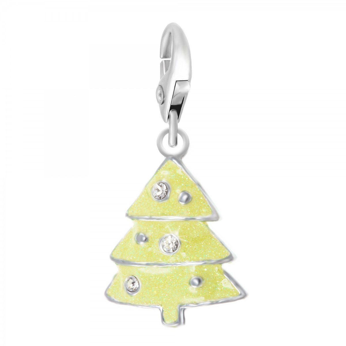 Charm Sapin jaune So Charm made with crystal from Swarovski
