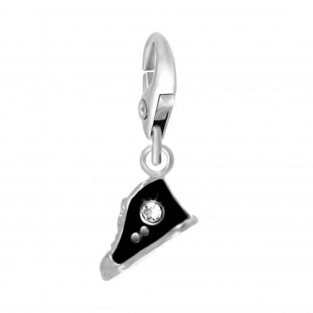 Charm chaussure noire So Charm orné de cristaux SWAROVSKI® ELEMENTS