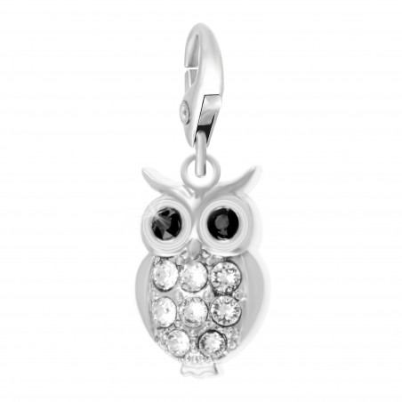 Charm hibou strass So Charm made with Crystal from Swarovski