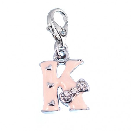 Charm Lettre K rose So Charm