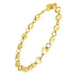 Bracelet porte-charms doré...