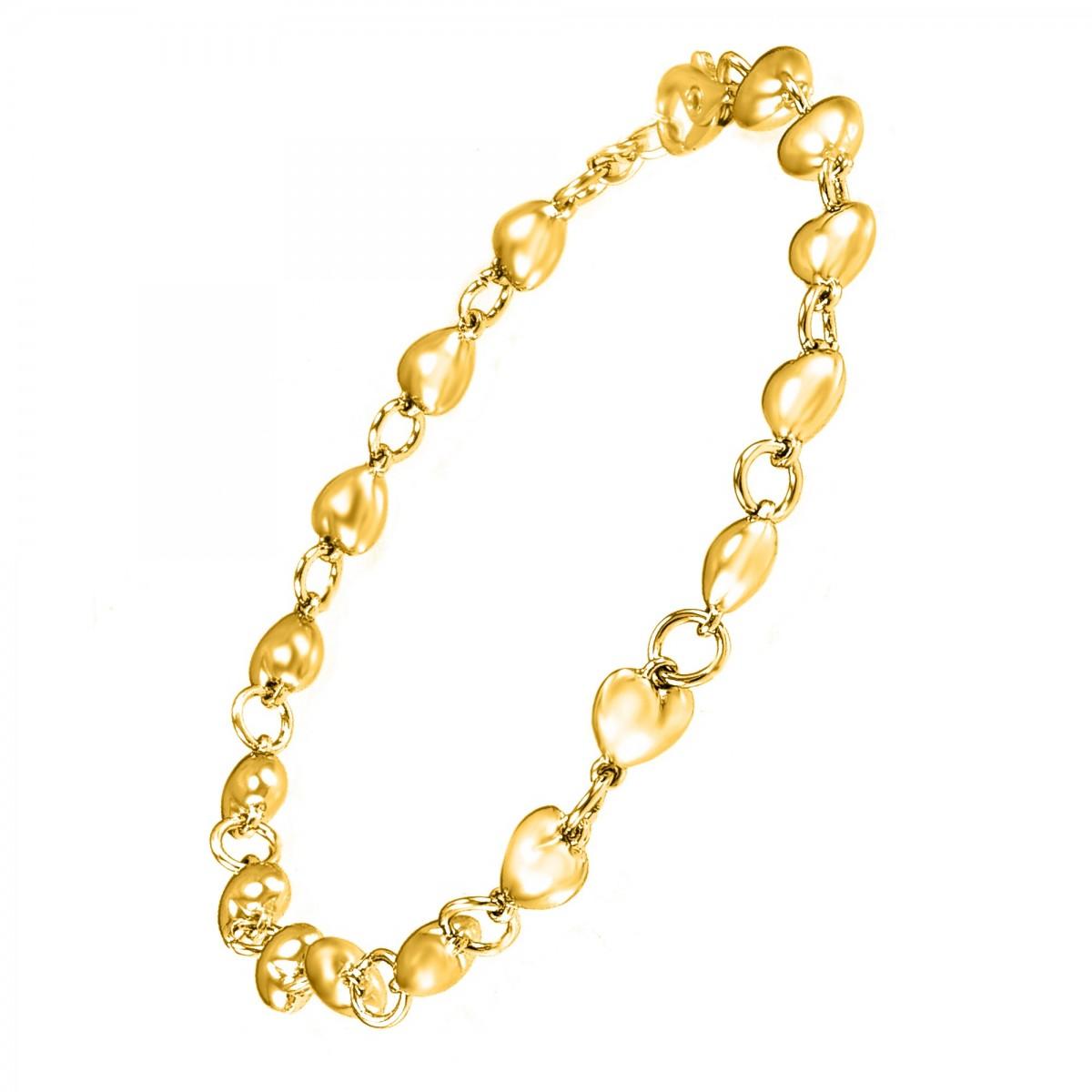 Bracelet porte-charms doré So Charm