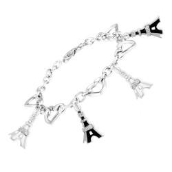 Bracelet Charms Eiffel...