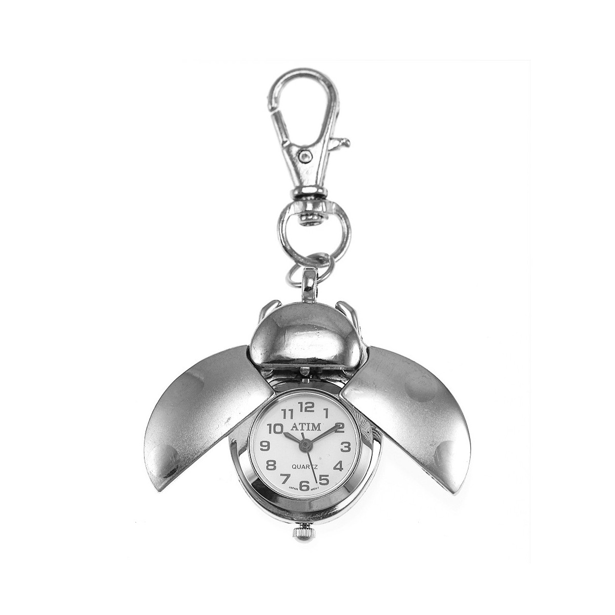 Porte-clé montre coccinelle