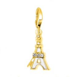 Charm Tour Eiffel doré...
