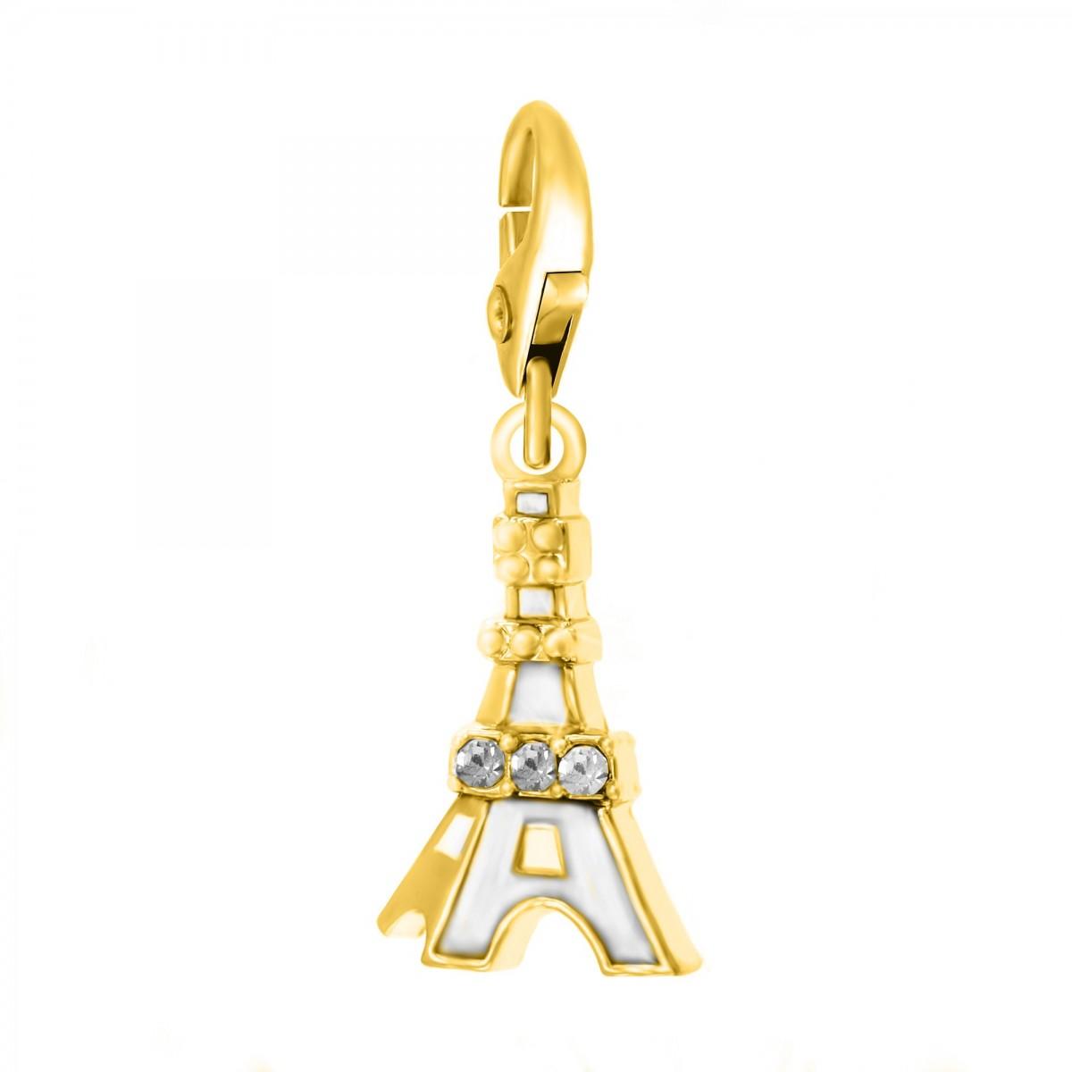 Charm Tour Eiffel doré So Charm made with Crystal from Swarovski