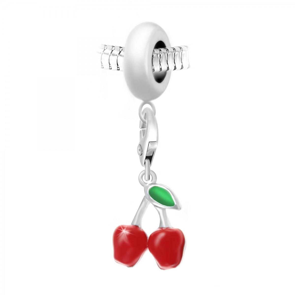 Charm perle So Charm en acier avec pendentif cerises